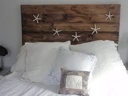 bedroom enchanting retro wood headboards ideas with dark blue bed cover and red pillows also