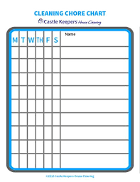Household Cleaning Chore Chart Cleaning Chore Charts For Kids Castle Keepers