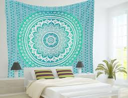 indian mandala tapestry hippie wall hanging ombre ethnic beach blanket bedspread 689838443113