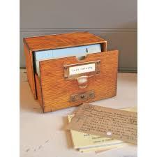Decorative Index Card Box