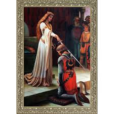 edmund blair leighton the accolade 1901 hand painted framed canvas art free today 17741073