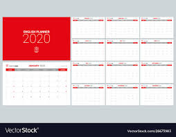 2020 monthly planner template 2020 calendar planner design template week start