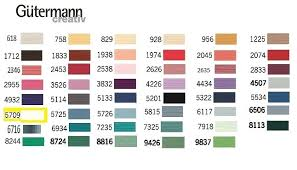 Gutermann Embroidery Thread Chart Cotton Hand Quilting Thread The Woolbag