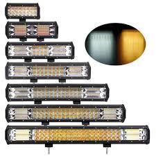 OFFROAD LED LIGHT BAR DUAL COLOR PODS STROBE ...