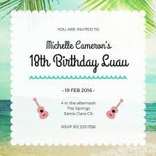 Customize 40 Luau Invitation Templates Online Canva Mesmerizing Online Birthday Invitations Templates