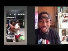 Jose Johnson's Reaction To CRAZY Elbow Knockout - YouTube