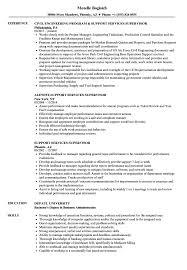 Support Services Supervisor Resume Samples Velvet Jobs