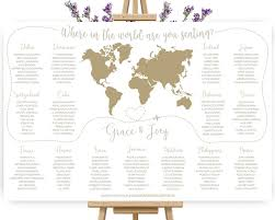 Map Seating Chart Wedding World Map