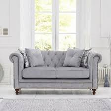 Buy Velvet Fabric Chesterfield Sofa U0026 Armchair SuiteFabric Chesterfield Sofas Uk