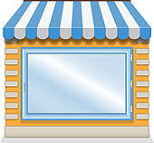 store window clipart. Brilliant Clipart Window Display Cute Shop Icon With Blue Awnings With Store Clipart GoGraph