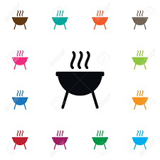 Brazier Design Isolated Bbq Icon Barbecue Vector Element Can Be Used For Bbq