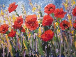 poppy painting poppy fields by sandra strohschein