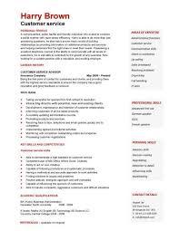 Service Advisor Sample Resume New Customer Service CV