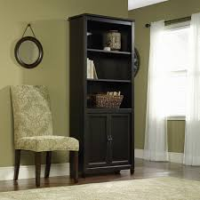 office bookcase with doors. sauder edge water shelf library bookcase with doors estate black images of interior decoration office