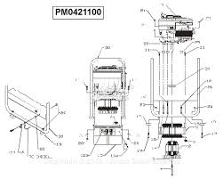 Powermate formerly coleman pm0421100 parts diagram for generator parts diagram 9 generator parts powermate wiring diagrams diagram generator