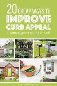 Adding Curb Appeal On A Budget  Home Decorating Interior Design Cheap Curb Appeal