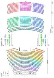 Civic Theater Seating Chart Kavli Theatre Detailed Seating Chart Bank Of America