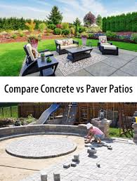 compare 2021 average concrete patios vs
