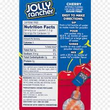 fizzy drinks drink mix jolly rancher nutrition facts label l nutrition fact