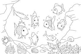 Fish Coloring Page Sea Star Coloring Page Starfish Coloring Pages