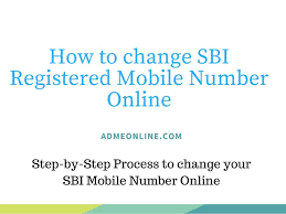 how to change sbi registered mobile number