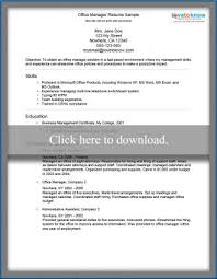 Office Manager Sample Resume Inspiration Office Manager Resume Sample