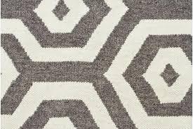 urban hive flat weave wool rug grey 320x230cm
