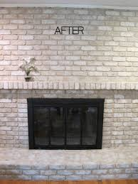 painted white brick fireplaceTUTORIAL How to Paint a Brick Fireplace