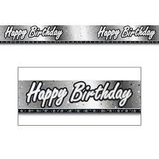 Happy Birthday Sign Black And White