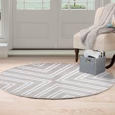 white round area rug. Windsor Home Kaleidoscope Area Rug - \u0026 White Round