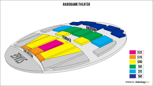 Seating Chart Rabobank Arena Bakersfield Rabobank Theater Bakersfield Seating Chart
