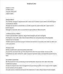 Printable Broadcast Cover Letter Template Free Download Photographic