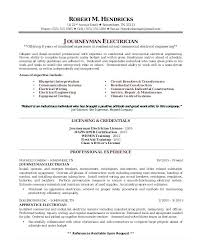 Iti Electrician Resume Objective Sample Resumes For Electricians