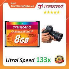 Thẻ nhớ CF Transcend CompactFlash 8GB 133x Speed dùng cho máy ảnh , máy CNC