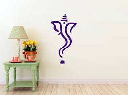 Small Picture Abstract Ganesh vinyl Wall DECAL Hindi Hindu India interior