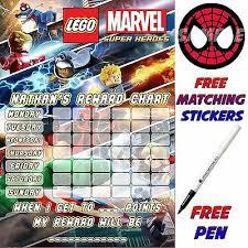 Avengers Potty Chart Reusable Reward Sticker Chart Lego Marvel Design Stickers