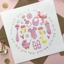 Gorgeous New Born Baby Girl Greeting Card
