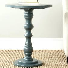 pedestal side tables large size of accent table steel teal finish solid wood material uk