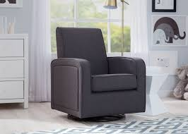 swivel rocking chairs for living room. Delta Children Charcoal (931) Charlotte Nursery Glider Swivel Rocker Chair, Room View, Rocking Chairs For Living N