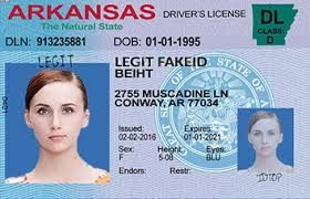 Scannable Ids Legitfakeid Id Arkansas Cards Fake PO6q8Pzp
