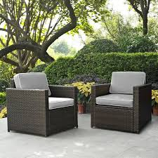 gray and brown 2 piece wicker furniture