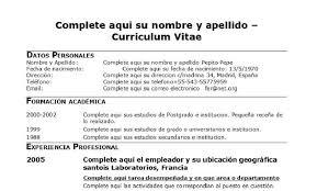 10 Formato De Curriculums Vitae 1mundoreal