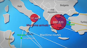 Key Migration Flows To Europe Animation