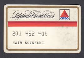 1980 s credit charge card citgo lifetime card