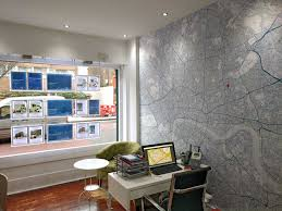 estate agent office design. Estate Agent Office With Wallpaper Map Design D