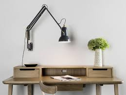 astonishing swing arm lamp wall mount plug in lights gray and hanging lamps wooden table