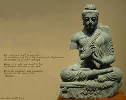 Wallpaper With Positive Quote By Lord Buddha Extinction Of Self Is