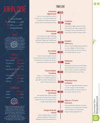 modern cv resume detailed timeline stock vector image  modern cv resume detailed timeline
