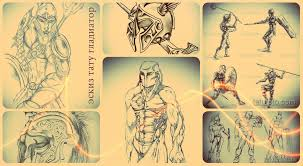 эскизы тату гладиатор интересные рисунки для нанесения татуировки с