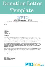 pto sle donation request letter for a or educational insution